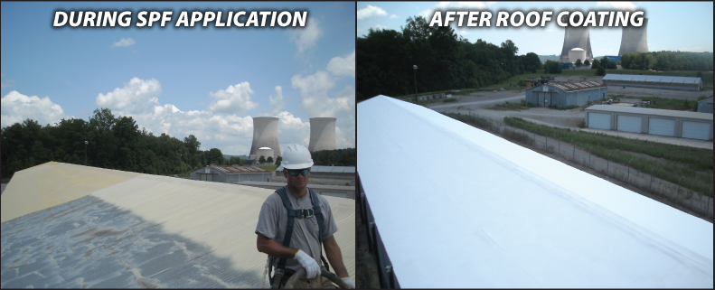 ... Foam Over Metal Roof Coating Roof Insulation Solutions SPF ...